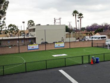 Artificial Grass Photos: Plastic Grass South Whittier, California Football Field, Commercial Landscape